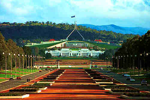 Canberra - capital city for The Commonwealth of Australia