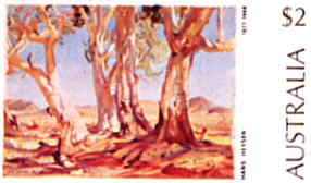 Painting by Hans Heyson - Red Gums of the Far North