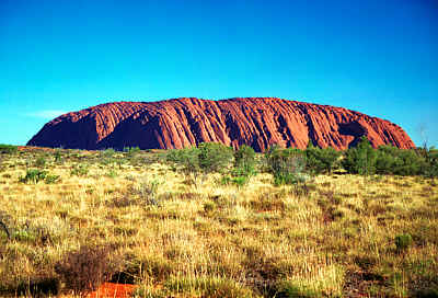 Uluru - huge rock in the centre of Australia and previously named Ayers Rock.